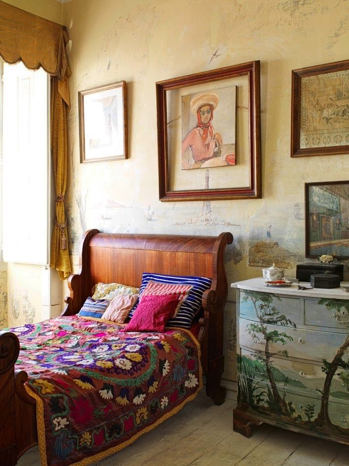 bohemian homes interior design eclectic suzani