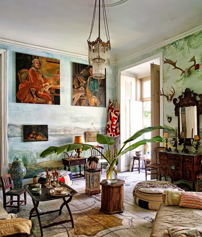 bohemian homes interior design sitting room eclectic